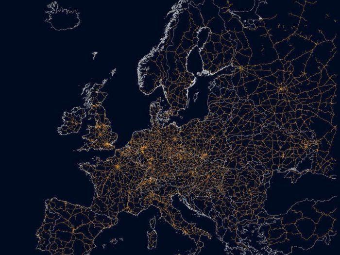 Железнодорожная карта Европы