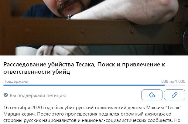 Появилась петиция о расследовании убийства Тесака