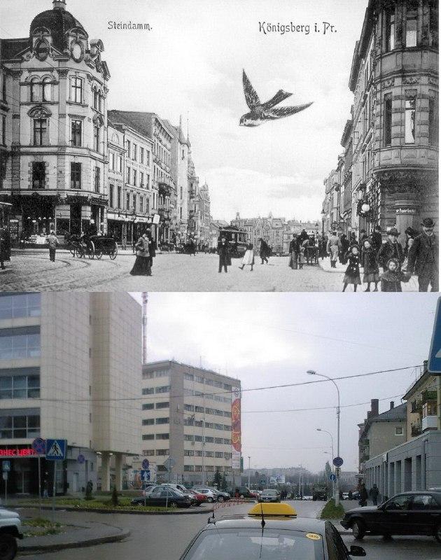 Кёнигсберг и Калининград выглядят как совсем разные города