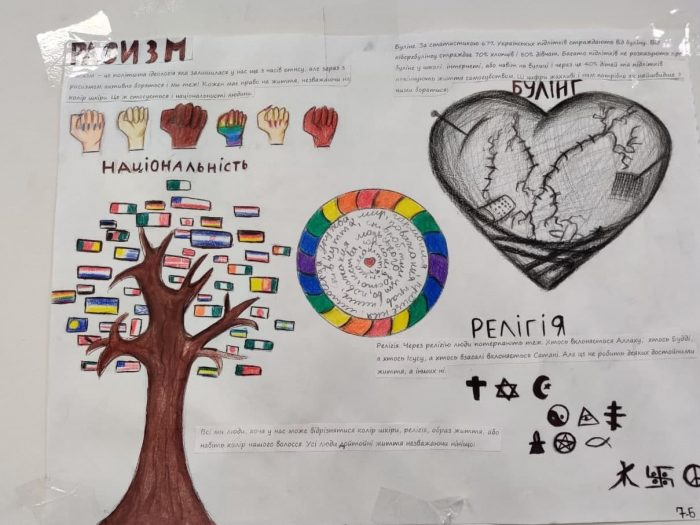 Девочку в Украине заставили рисовать ЛГБТ-пропаганду