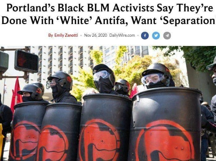 В Портленде негры-антифа отделились от белых антифа