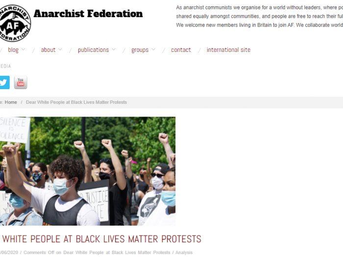 Anarchists teach whites to serve blacks