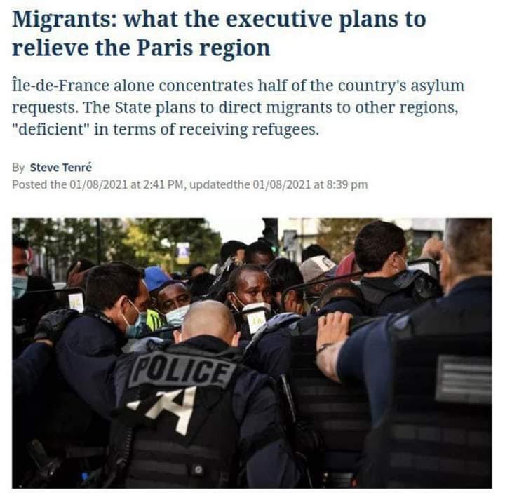 Франция переместит мигрантов по регионам