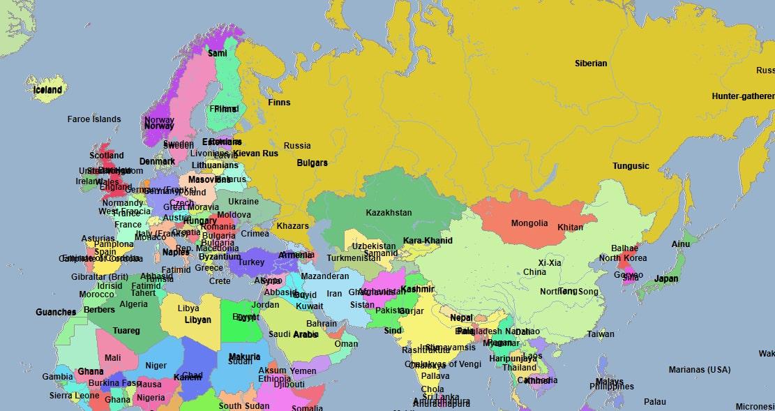 Где найти карту мира разных годов?