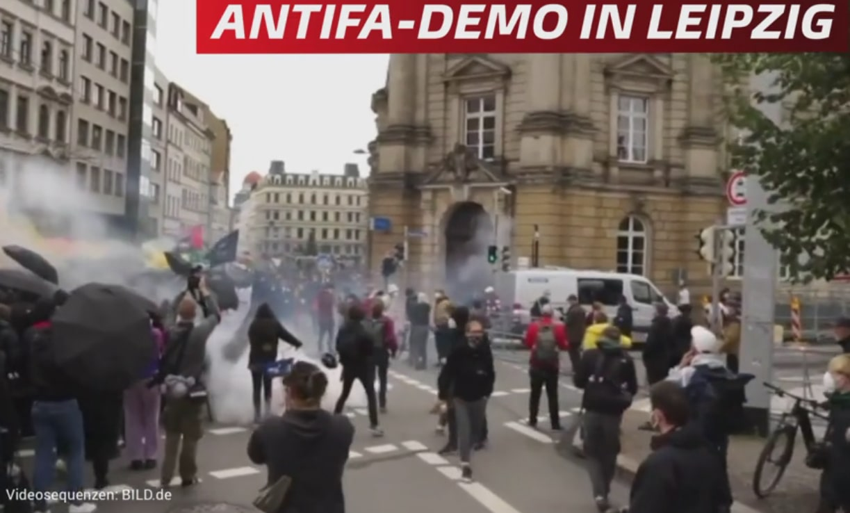 Антифа устроили левый погром в Германии
